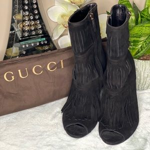 Gucci Suede Booties